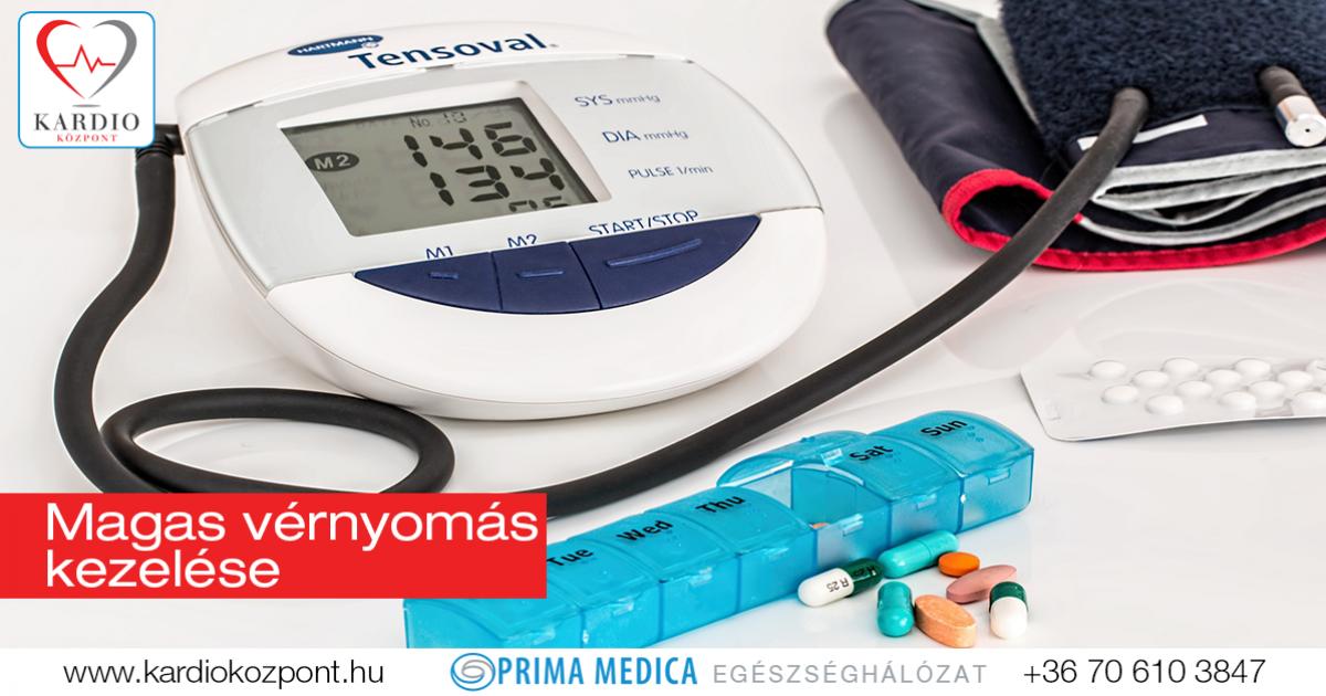 milyen kezelést írnak elő a magas vérnyomás esetén