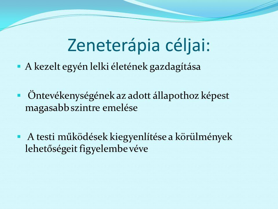 Zeneterápia - Tudástár