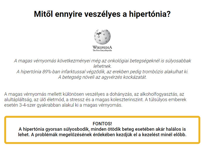 onkológiai hipertónia