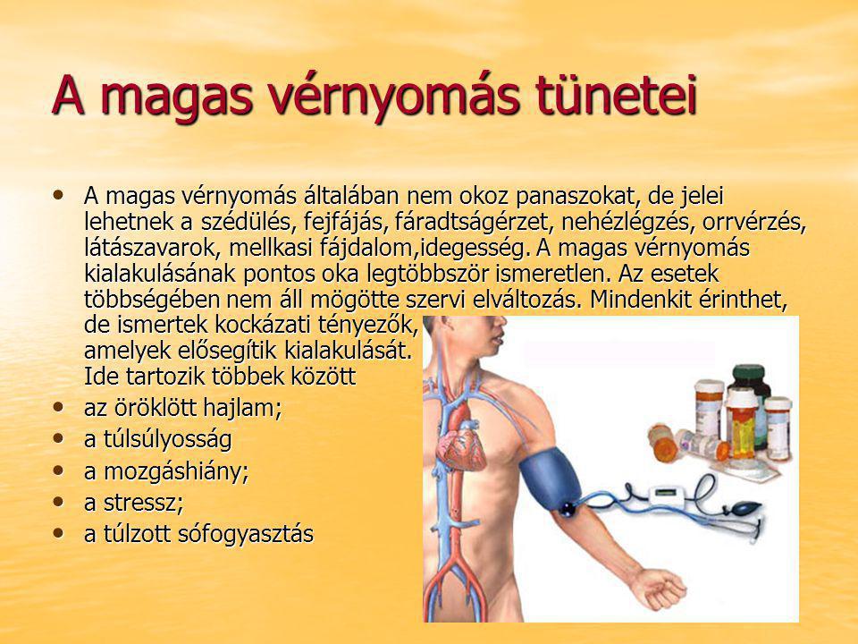 a magas vérnyomás klinikai tünetei
