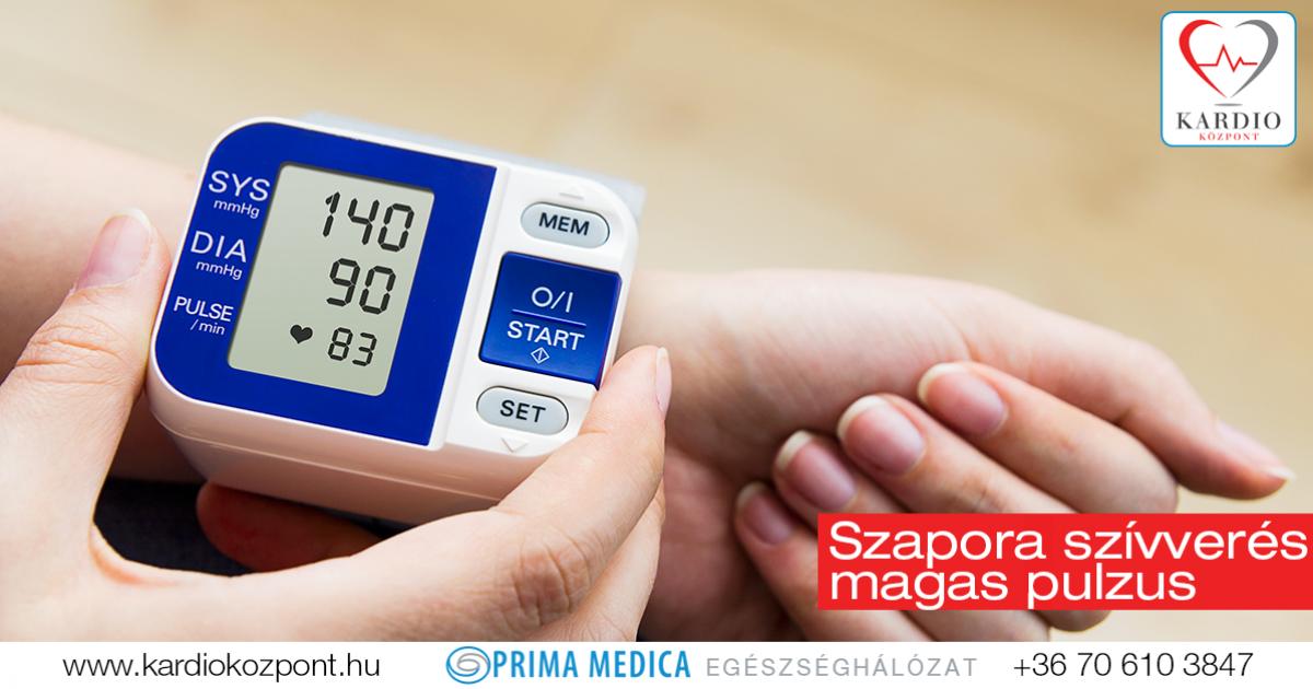 magas vérnyomás és megnövekedett pulzusszám