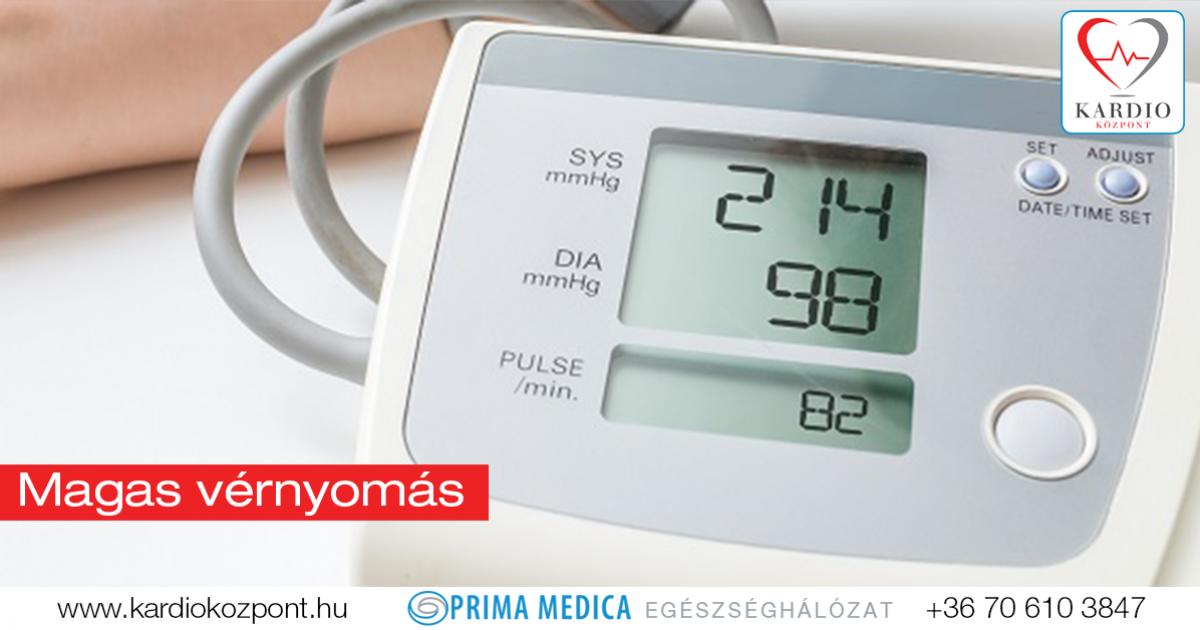 enyhe magas vérnyomás esetén