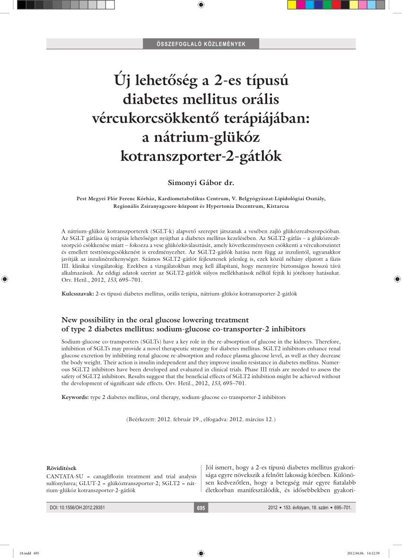 magas vérnyomás diabetes mellitusban 2 vesevizsgálat magas vérnyomás miatt